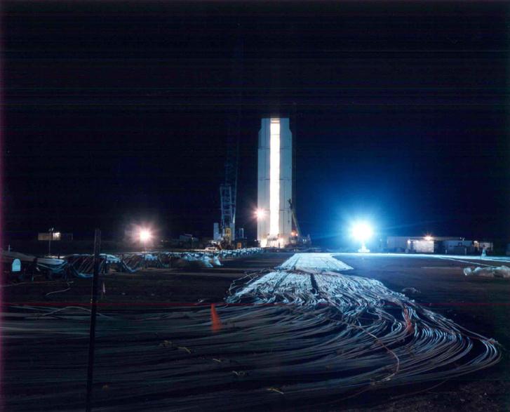 Az épülő Icecap éjszakai látképe