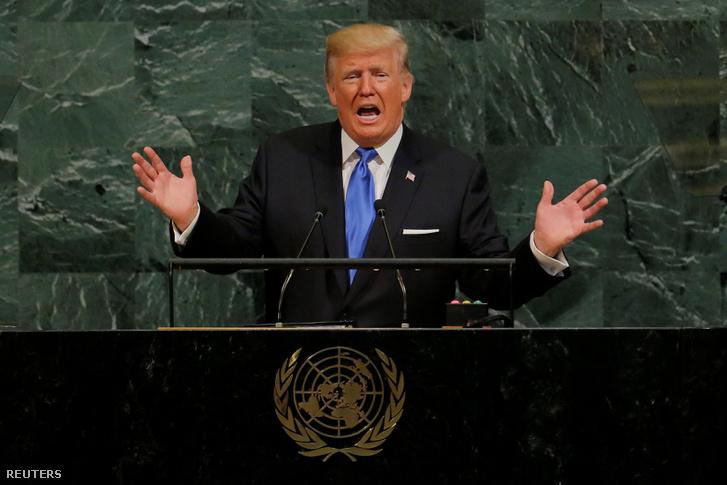 Donald Trump beszéde az ENSZ 72. ülésszakának általános vitájában, a világszervezet New York-i székházában 2017. szeptember 19-én