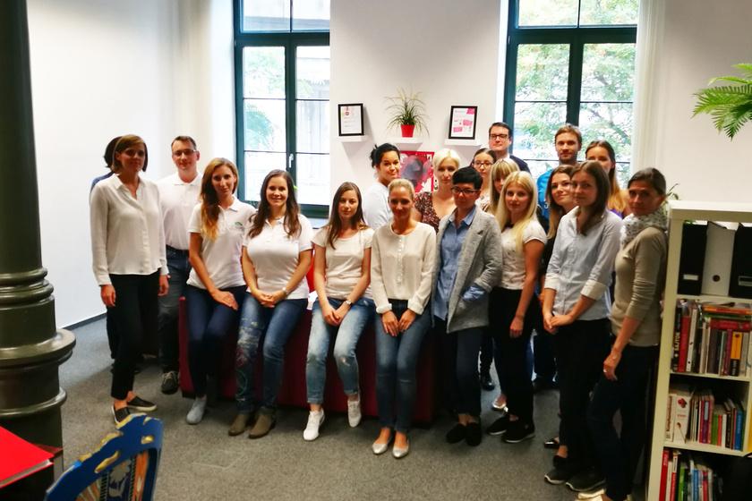 Femina-csapat a SPAR életmódváltó program szakértőivel