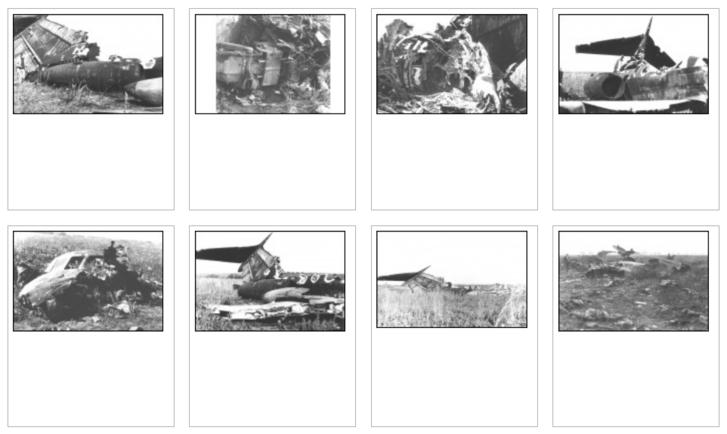 Képek a roncsokról (fotók Radó Iván gyűjteményéből az aviation-safety.net adatlapján)