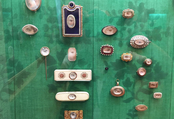 A Metropolitain Museum gyűjteményében található szem-miniatűrök