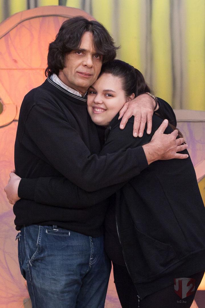 Takáts Tamás és lánya a TV2 Vigyázat, gyerekkel vagyok! című műsorában idén májusban.