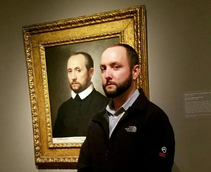 A férfi a Clevelandi Szépművészeti Múzeumban futott össze kiköpött másával, Vincenzo Guarignonival.
