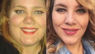 Instahíradó: Tóth Vera szemlélteti, hogy leadott negyvenvalahány kilót