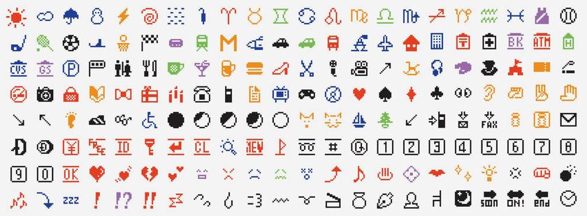 Az első 176 emoji