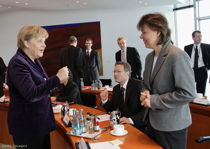 Angela Merkel és Beate Baumann