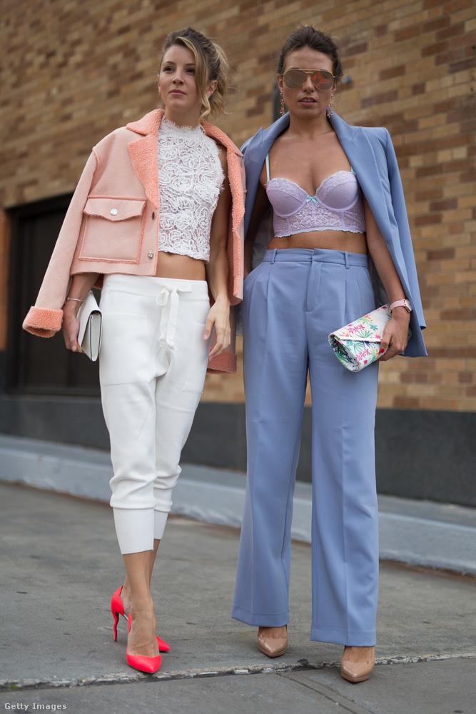 Pasztell színek és fehérneműnek látszó felsőrészek New Yorkban.