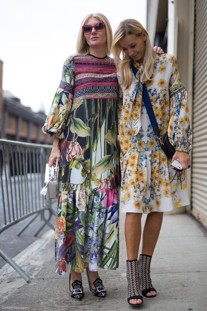 Virágos egyrészesek és barokkos cipők New Yorkban.