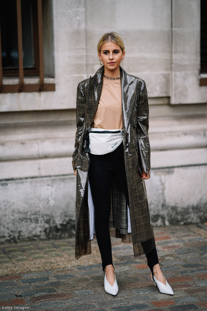 Londonban már hordják a Calvin Klein-féle luxusesőkabátot!