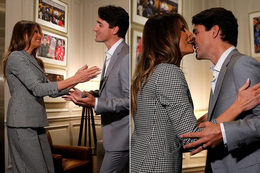 A közösségi oldalakat elárasztották az üzenetek a találkozó után: egybehangzóan úgy vélték, hogy Melania sokkal boldogabb és nyitottabb a férje nélkül - ráadásul erős kémiát véltek felfedezni a first lady és a miniszterelnök között.