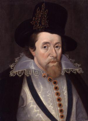 I Jakab angol király (idősebb John De Critz festménye 1606 körül)