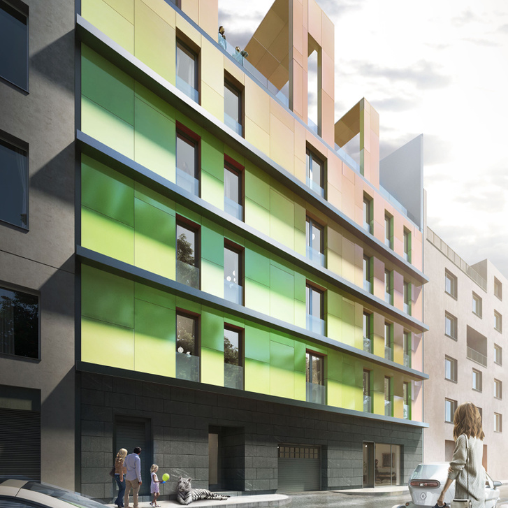 Új lakóház látványterve a Magdolna utcában
