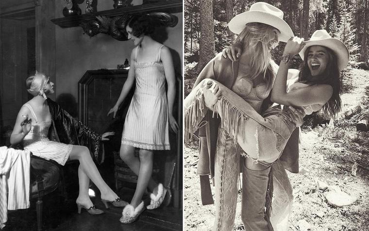 Fehérnemű modellek.1927