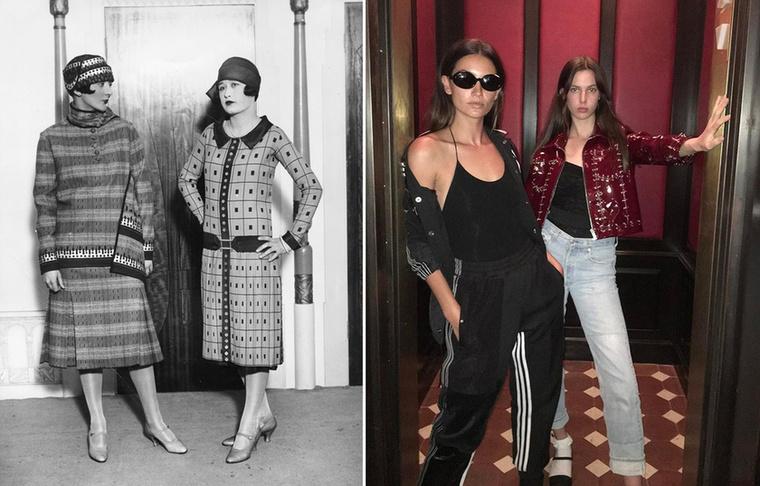 Kosztümök 1926-ban.Utcai ruha belső térben, Lily Aldridge Instájáról.