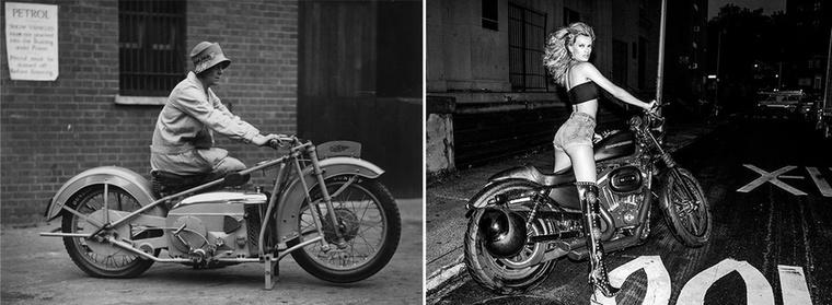 Azért a motoros reklámok is sokat változtak 1926-hoz képest.A jobb oldalon Bregje Heinen púcsít.