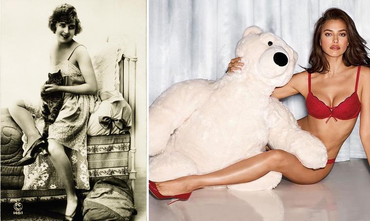 Kis cica 1920.Nagy medve és Irina Shayk 2016.