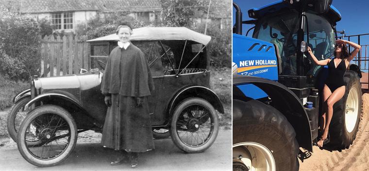 Ezen az 1923-as képen szintén egy autóreklám látható, egy Austin Seven