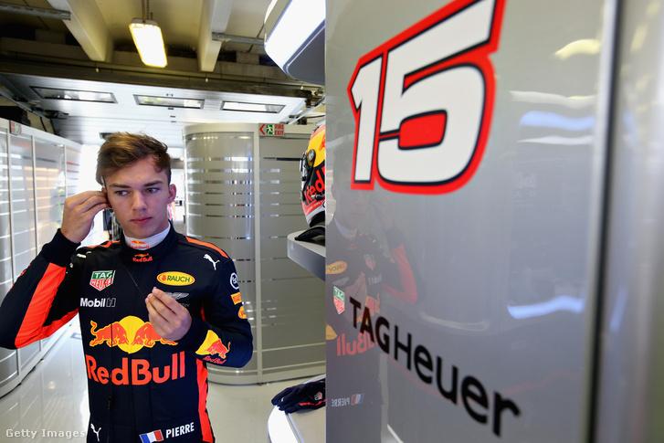 Piere Gasly az augusztusi hungaroringi F1-teszten