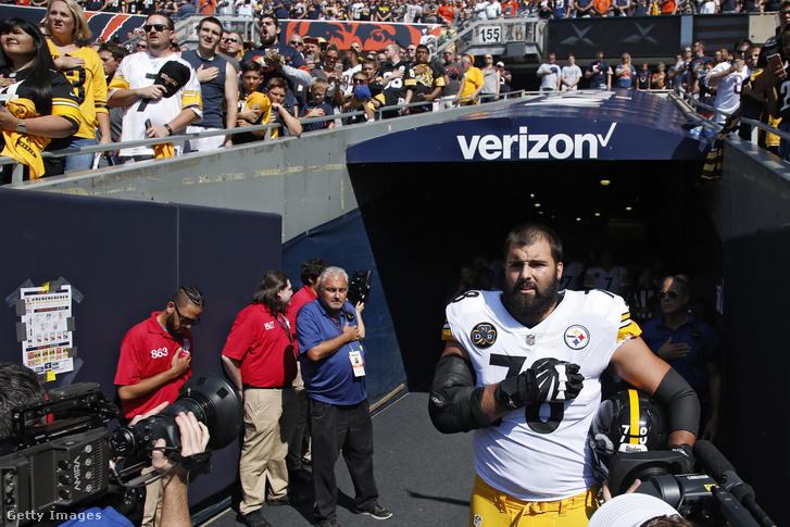 A Steelersből egyedüliként nem tüntető Alejandro Villanueva