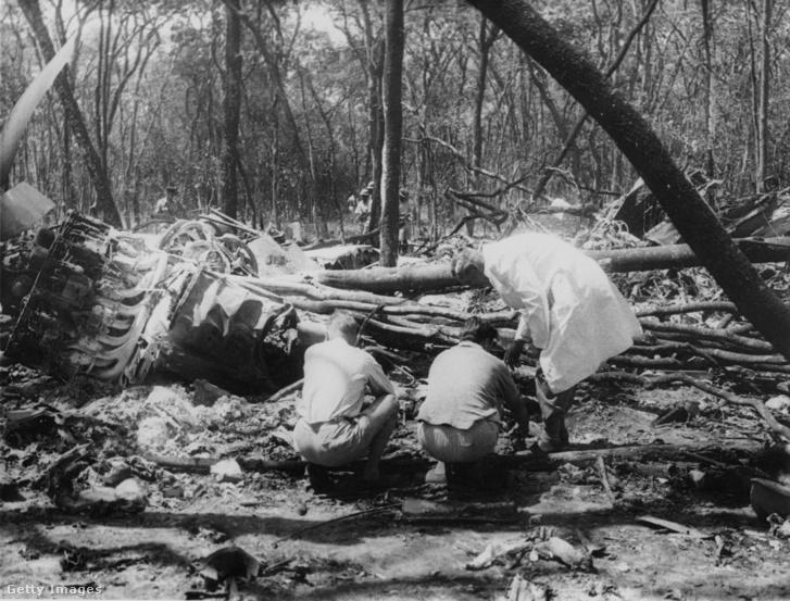 A baleset helyszíne Észak-Rodéziában (a későbbi Zambiában)