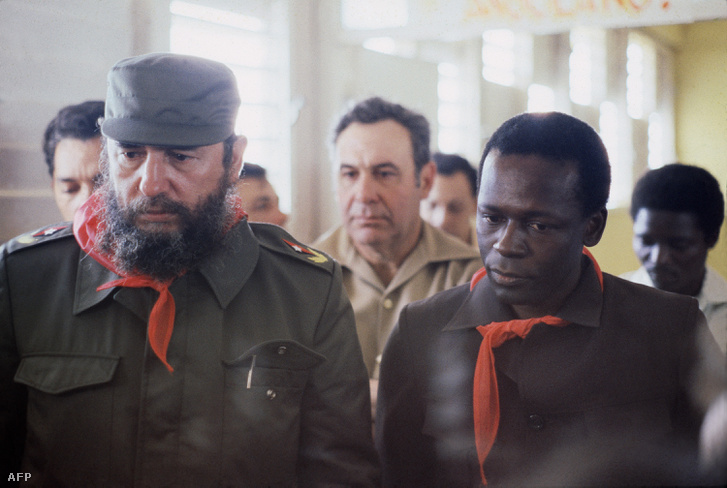 José Eduardo dos Santos Fidel Castro vendégeként Havannában, 1980-ban