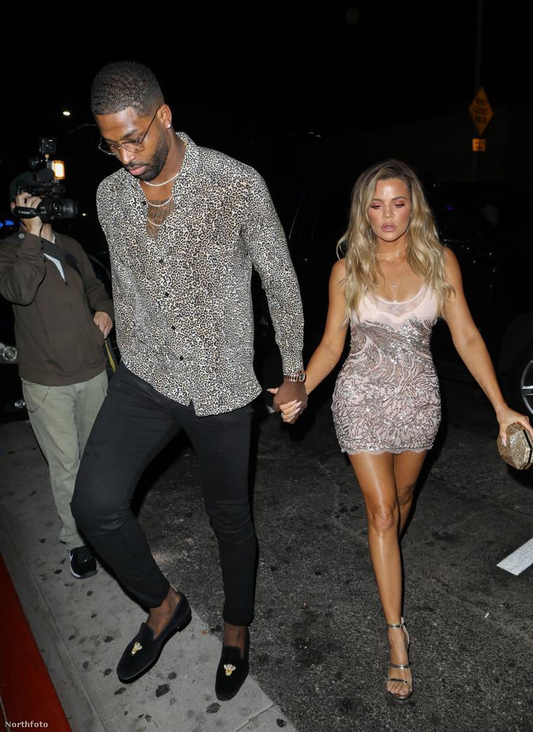 Thompson 206 centi magas, ha kíváncsiak az ilyesmire - Kardashian pedig 177.