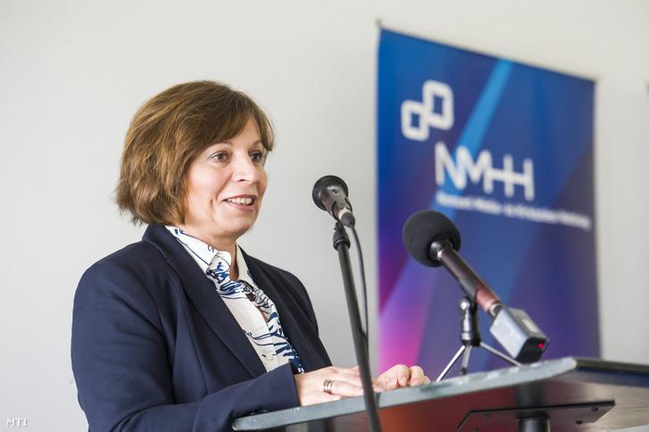 Karas Monika, a Nemzeti Média- és Hírközlési Hatóság (NMHH) elnöke