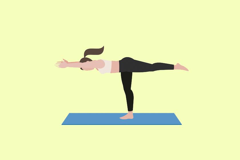 A mérlegállás javítja a tartást és a vérkeringést is élénkíti. Nem könnyű tartani, de próbálj figyelni, hogy a gerinced egyenes legyen. Tartsd meg a pózt 5-8 másodpercig, majd válts lábat kétszer.
