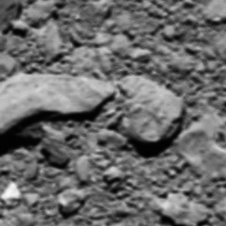 A Rosetta űrszonda utólag rekonstruált, legutolsó fotója.