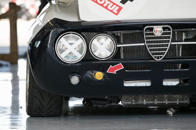 Fenyegetően terpeszkedik az Alfa Romeo 1750 GTAm