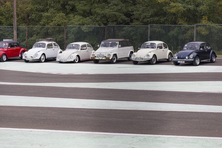 Ahol a még hátsó, eldugott parkolóban is ilyen Volkswagen-armada árválkodik néhány érdeklődő pillantásra várva, ott tudhatjuk, hogy jó helyen vagyunk
