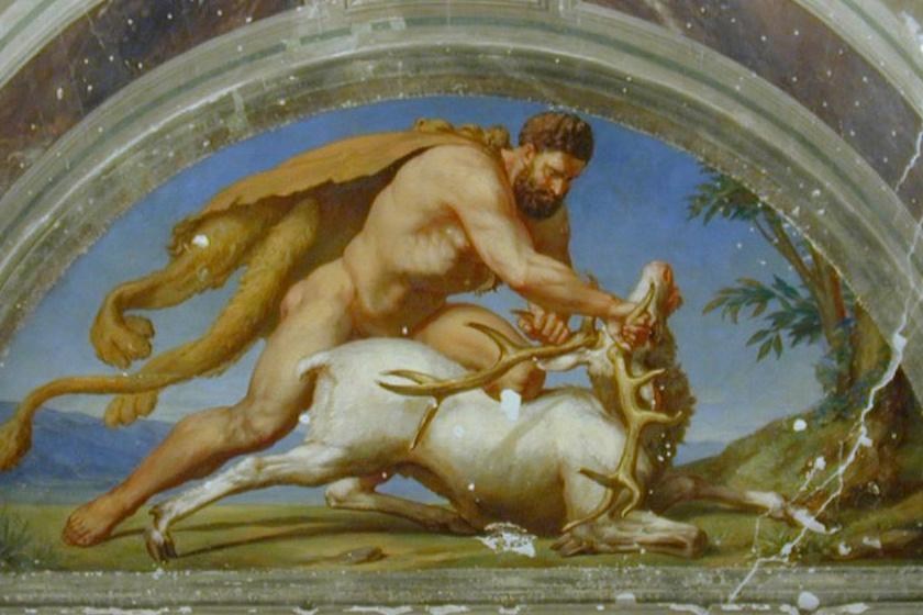 Herkules vagy Héraklész, születési nevén Alkaiosz a görög mitológiában Zeusz és Alkméné tirünszi királynő fia, maga a megtestesült erő, akinek 12 próbán kellett átesnie a monda szerint.