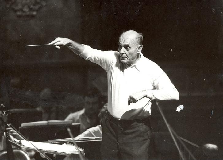 Solti György a Magyar Állami Operaház hangversenyének próbáján, 1985. november