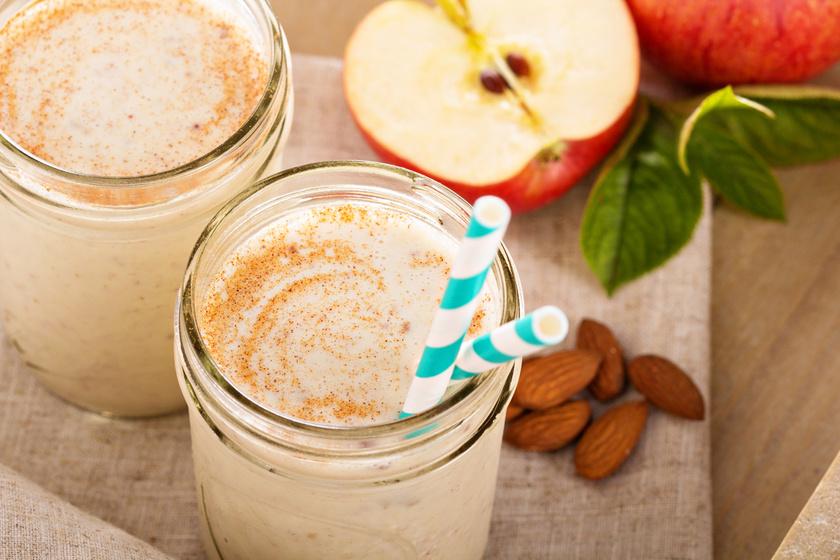 Napi egy alma az orvost távol tartja, turmix formájában is. Rostokban gazdag, immunerősítő turmixot készíthetsz, ha egy almához és egy banánhoz másfél deciliter mandulatejet adsz.