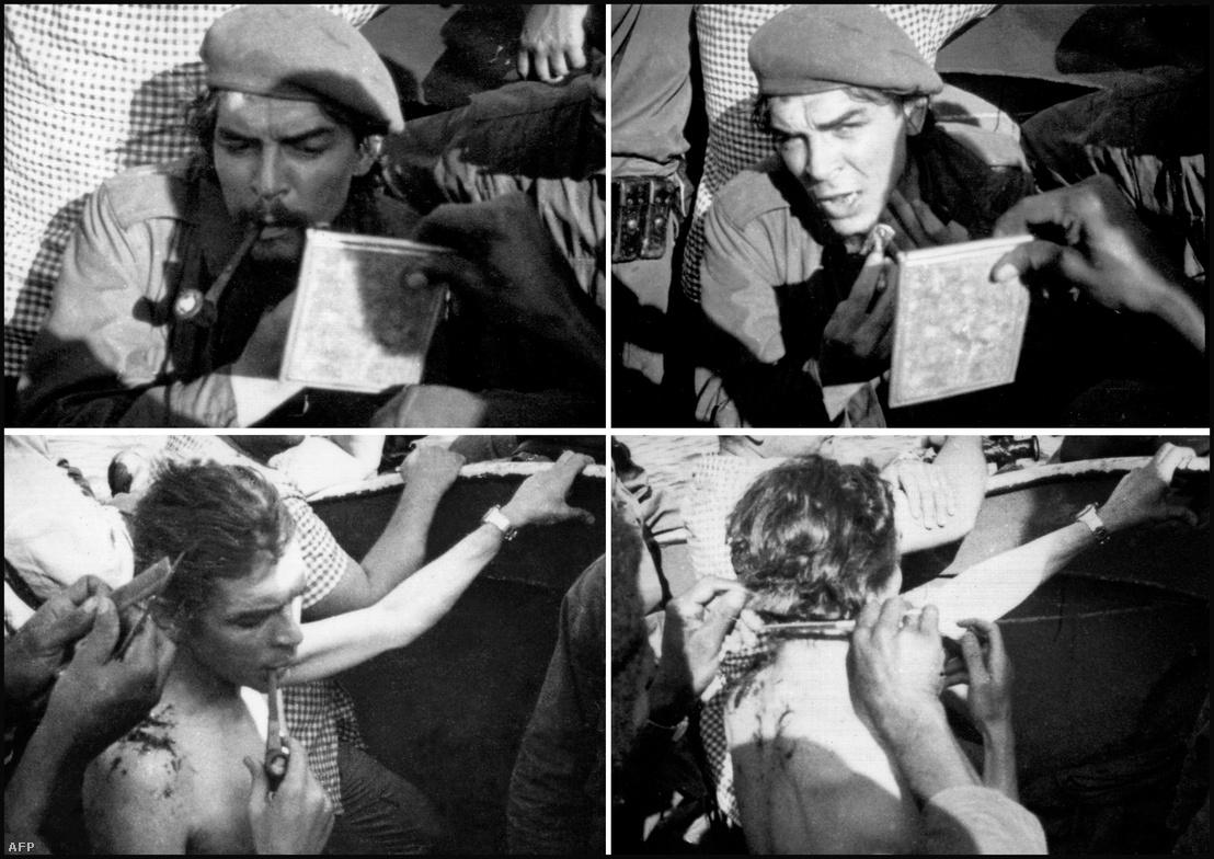 Az 1965-ös felvételen Guevara borotválkozik és hajat vágat, miközben átkel az afrikai Tanganyika-tavon, hogy eljusson Kongóból Tanzániába. Az volt a terve, hogy Kongóban is forradalmat robbant ki, de a sikertelen toborzás után kénytelen volt kivonni a csapatait az országból. Che Guevara életéről szóló Nagyképért kattintson a fotóra!