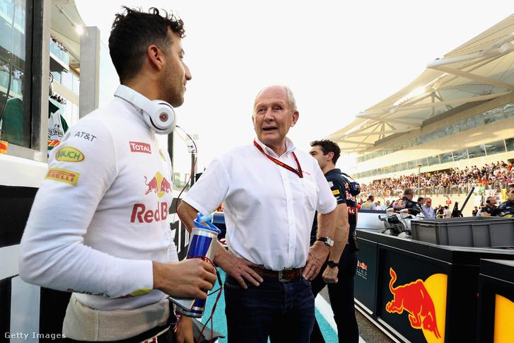 Ricciardo és Helmut Marko