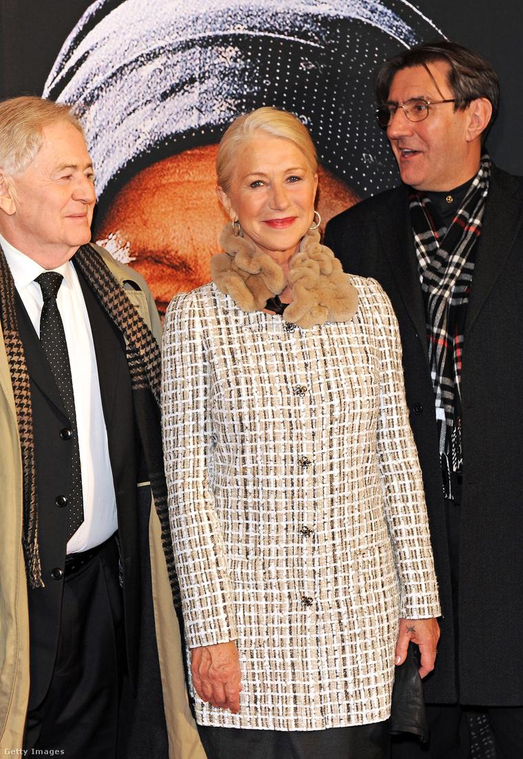 A háttérben Helen Mirren Emerenc szerepében.