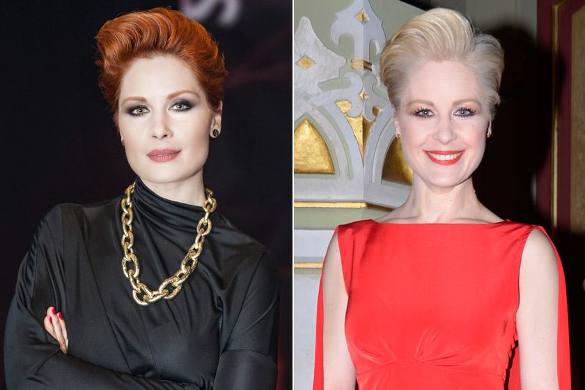 Orosz Barbi márciusban a Televíziós Újságírók Díjának gálájára vörös helyett aznap befestetett platinaszőke hajjal libbent be.