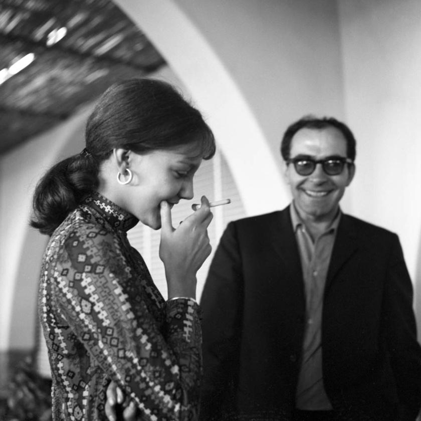 Anne Wiazemsky (1947-2017) és Jean-Luc Godard