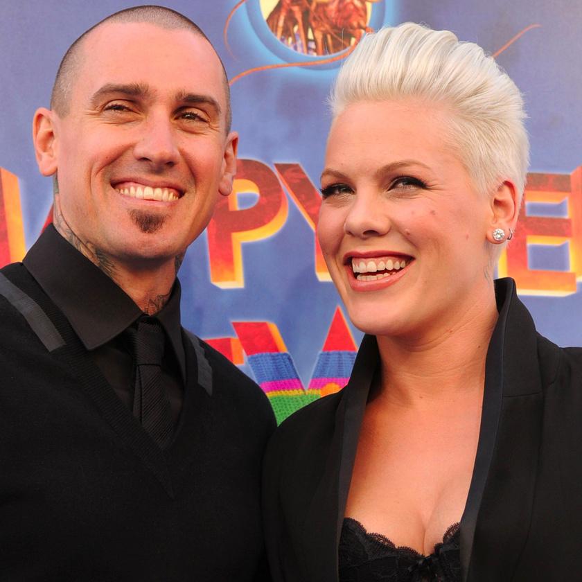Pink és férje, Carey Hart.
