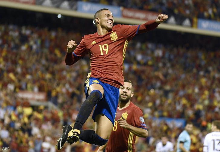 A spanyol Rodrigo ünnepli első válogatott gólját