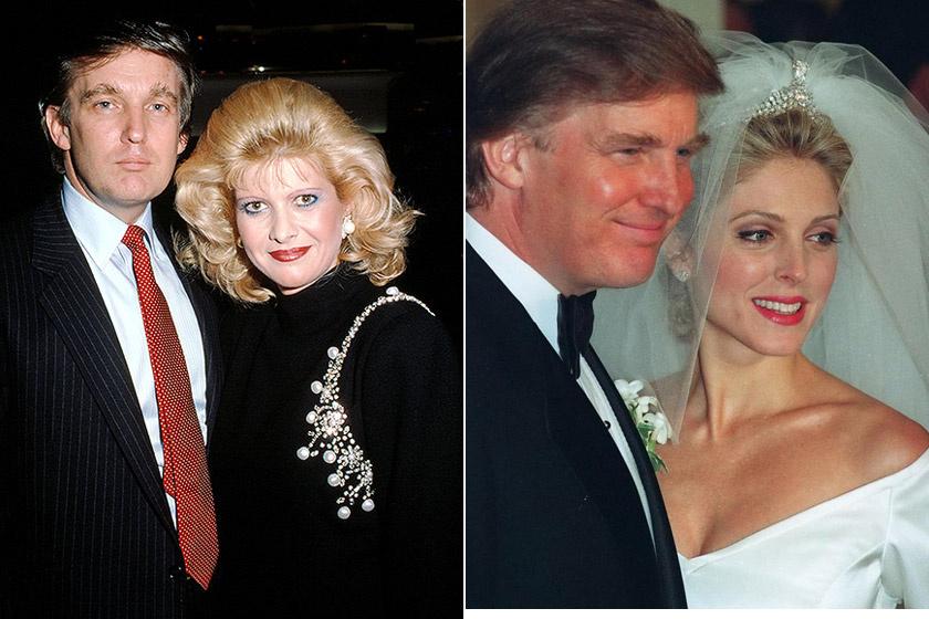 Donald Trump Ivanával és Marlával