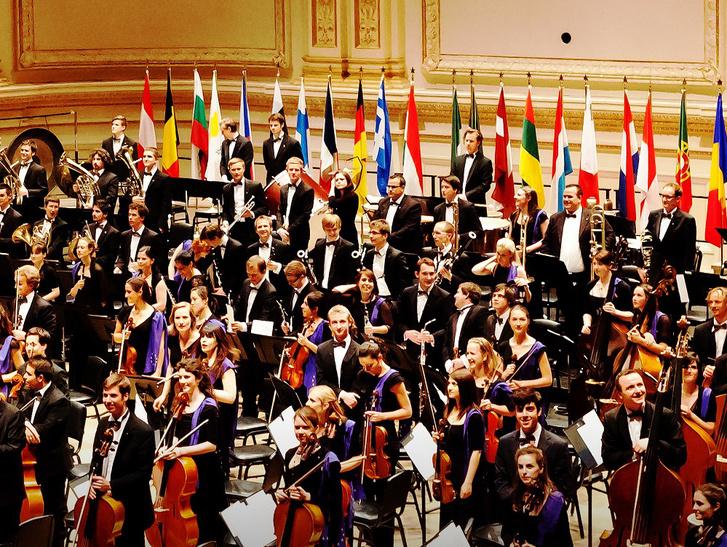 Az Európai Unió Ifjúsági Zenekara. (Kattints a képre a poszter megtekintéséhez!)