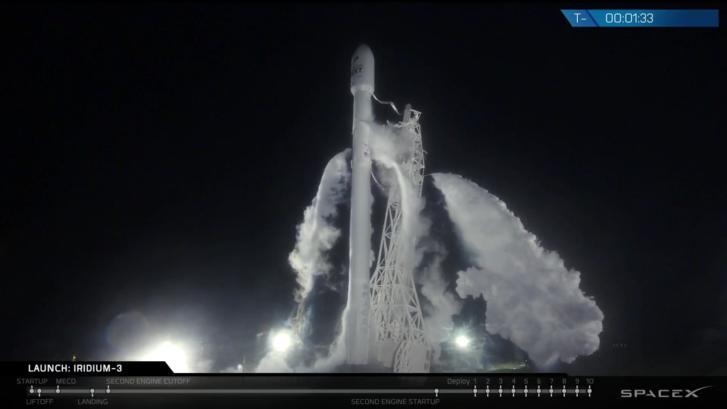 Baromi jól nézett ki a Falcon-9 másfél perccel a start előtt