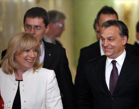 Radicová és Orbán Pozsonyban (Fotó: Beliczay László)