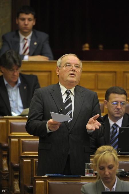 Nyikos László, a Jobbik vezérszónoka (Fotó: Kovács Attila)