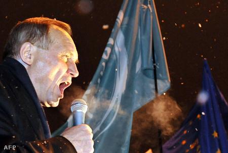 Vlagyimir Nyekljajev a december 16-i ellenzéki gyűlésen
