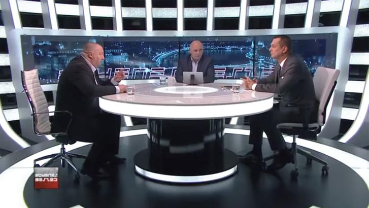 Németh Szilárd és Molnár Zsolt az ATV Egyenes Beszéd című műsorában.