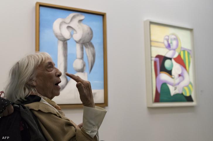 Maya Widmaier-Picasso a megnyitón