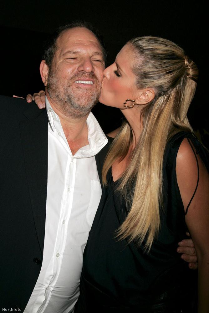Akit itt éppen Heidi Klum csókol arcon.